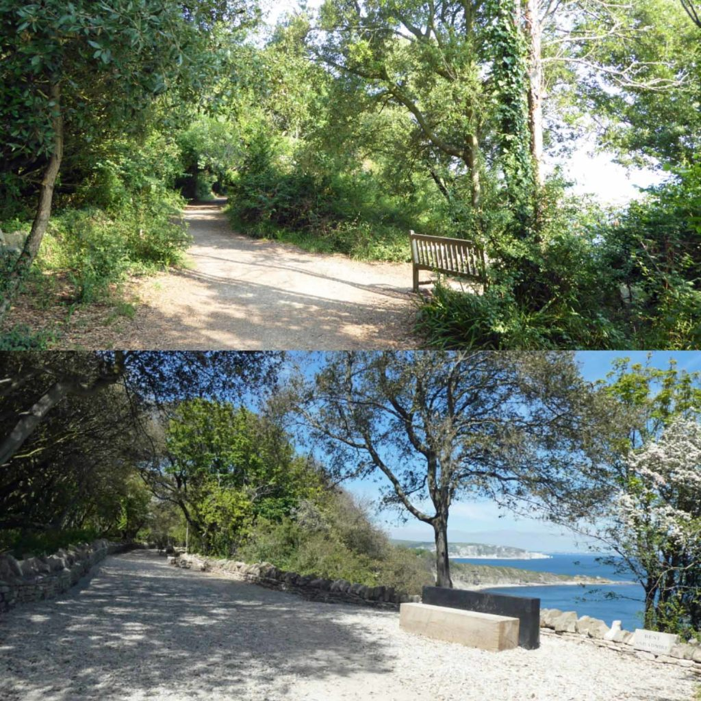 New paths at Durlston Country park