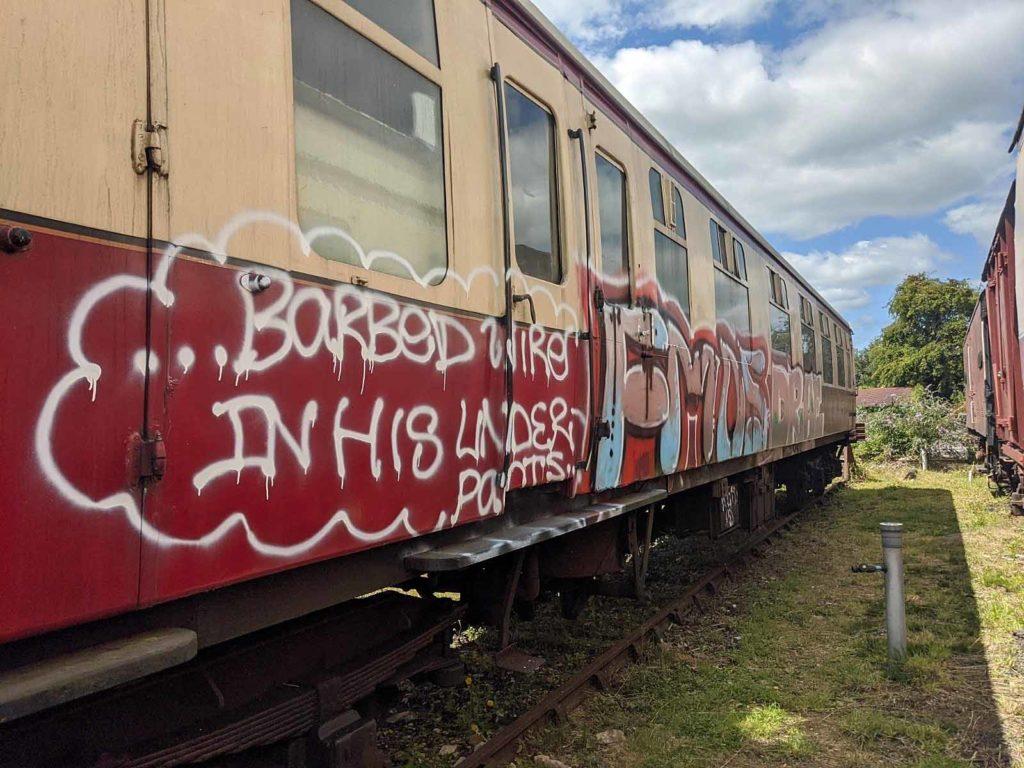 Graffiti on railway carriage