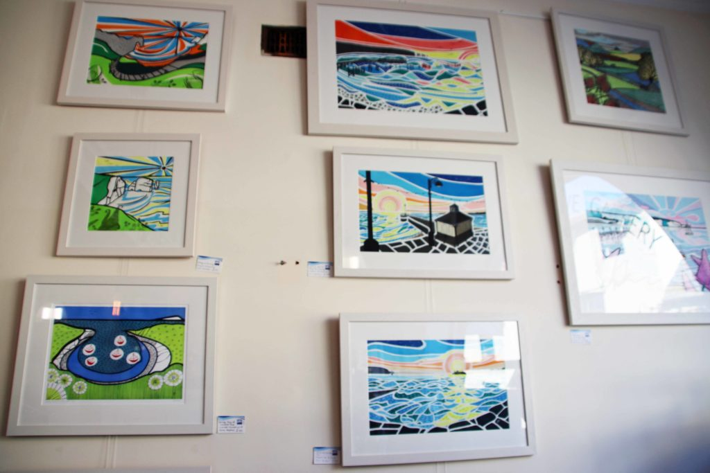 Gina Marshall's paintings at Purbeck New Wave Gallery