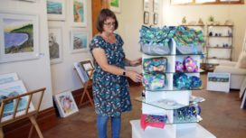 Gina Marshall in her new Purbeck Wave Gallery
