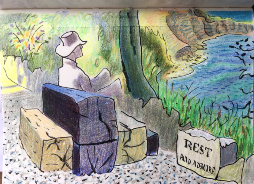 Picture of man on bench by Tony Kerins