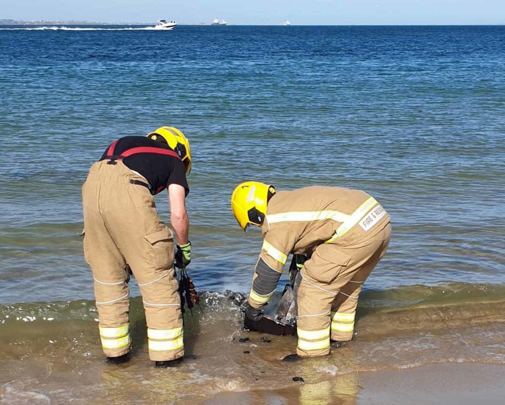 Swanage Fire crew put out a barbecue at Studland