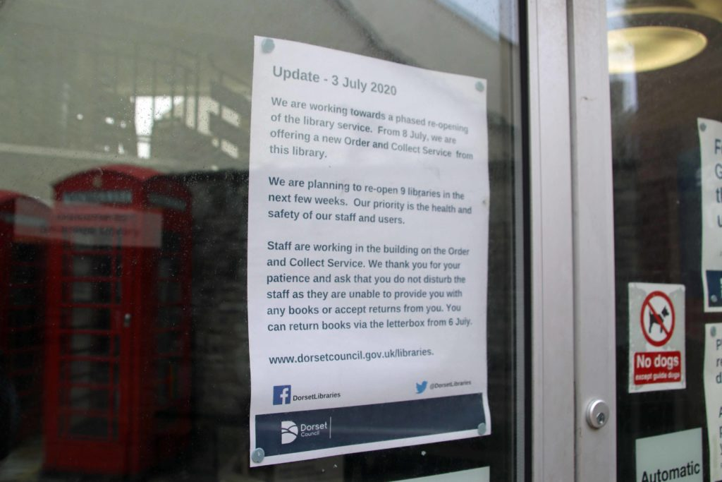 Swanage Library reopening notice