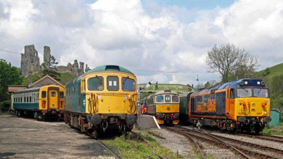 Swanage Railway diesel trains