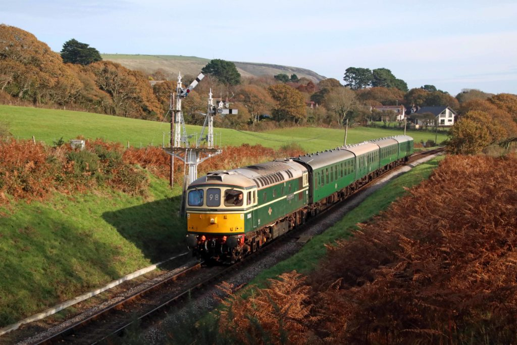 Swanage Railway diesel train