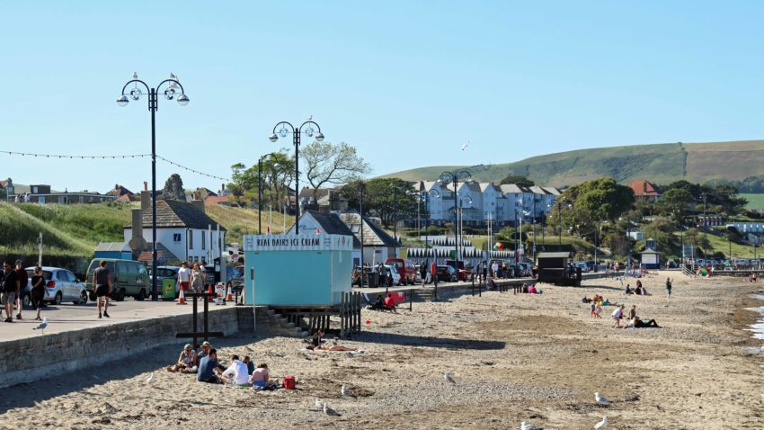 Swanage beach and seafront