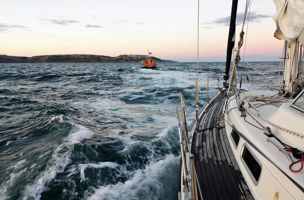 Swanage lifeboat rescues yacht