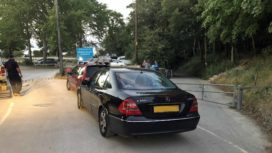 Car blocking Studland beach emergency access