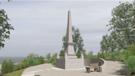 Architect drawings of the proposed Albert Memorial