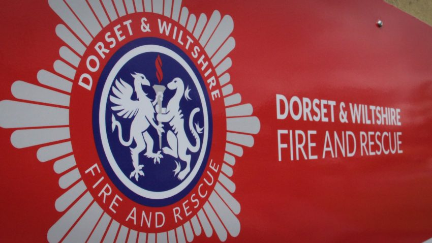 Dorset and Wiltshire Fire and Rescue sign