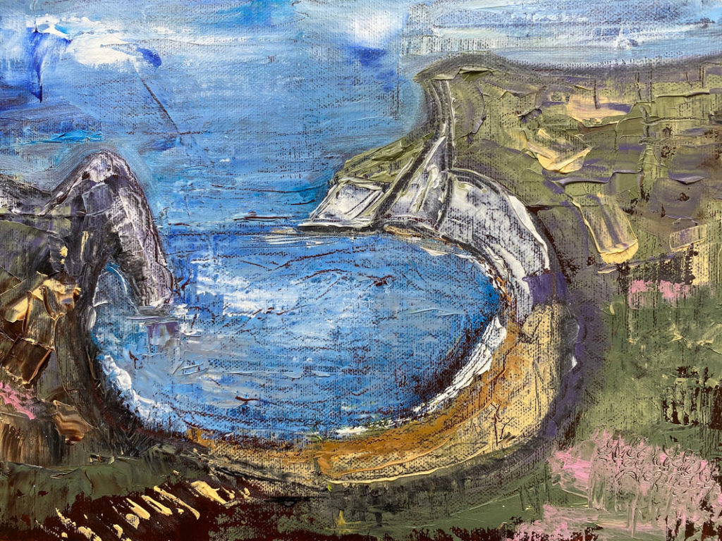 A painting of Durdle Door