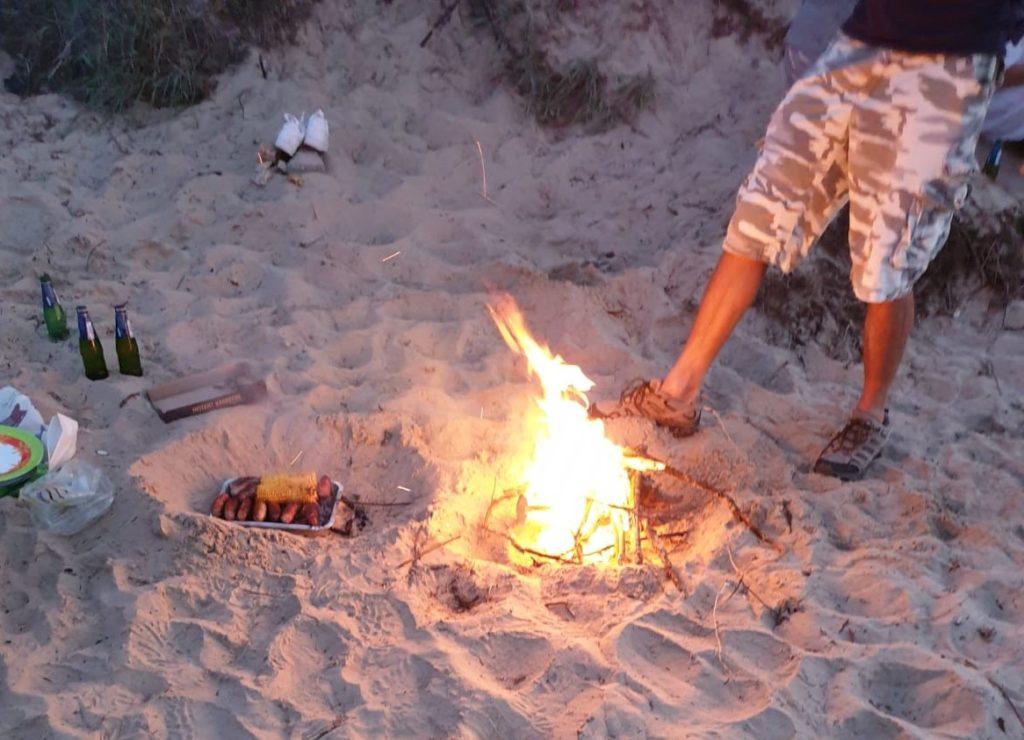 Fire on Studland Beach