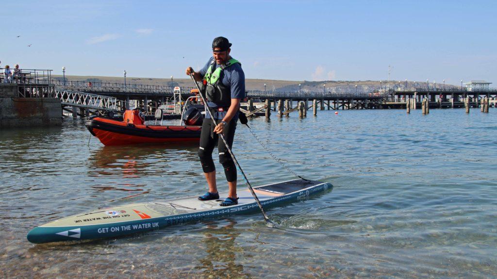 Jordan Wylie on a paddleboard