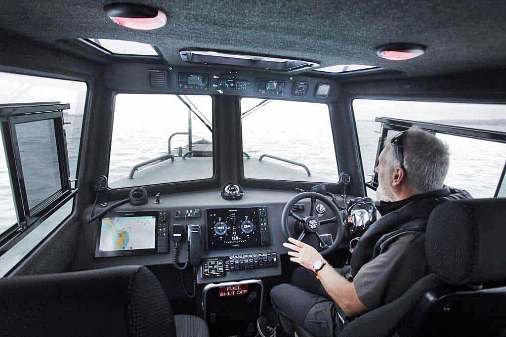 Dorset Police boat interior