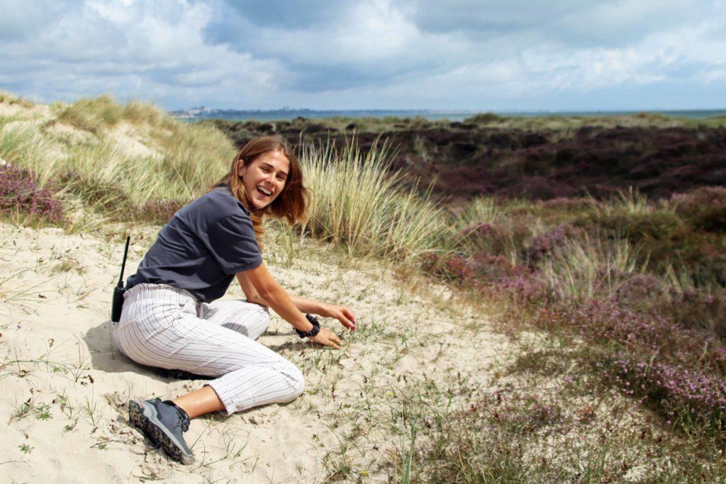 Julia Galbenu at Studland dune
