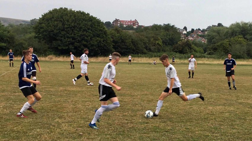 Swans first team and reserves playing a football match