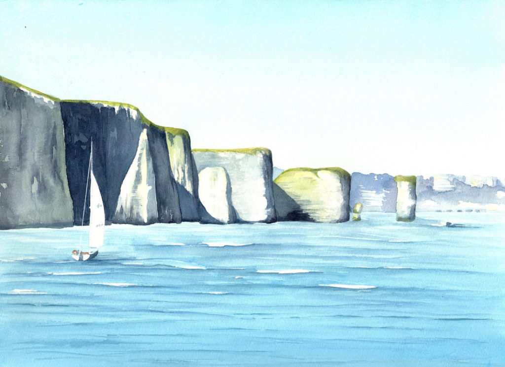Painting of Old Harry Rocks