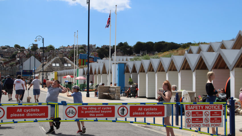Beach huts in Shore Road