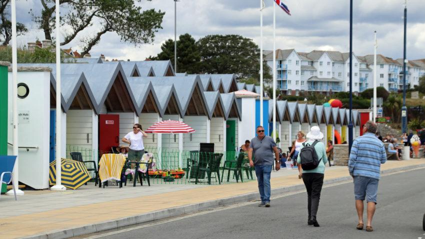 Beach huts in Shore Road