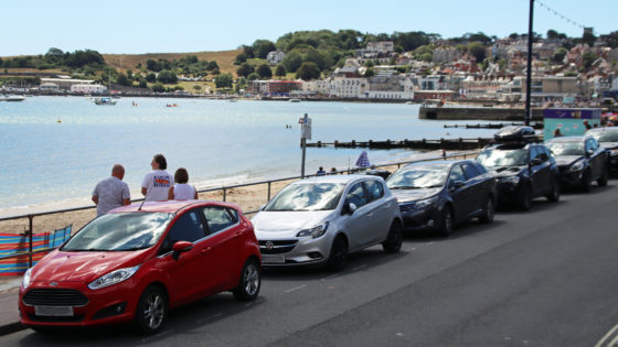 Cars along Swanage Seafront