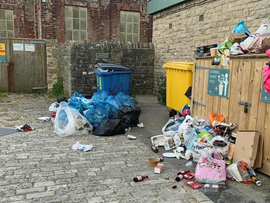 Rubbish at Durdle Door