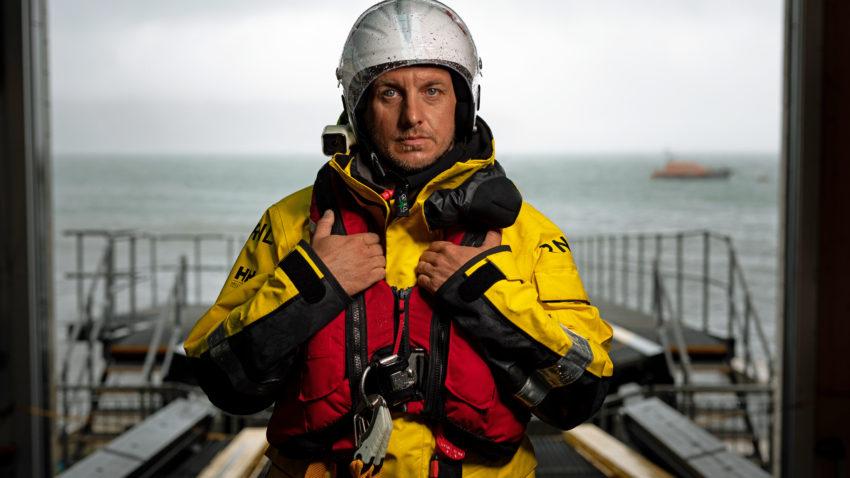 Gavin Steeden Swanage Lifeboat crew member
