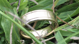 Wedding ring found in grass