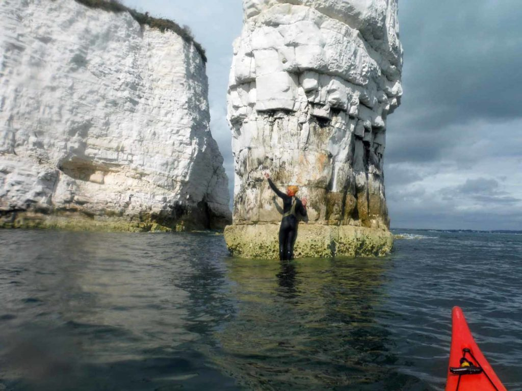 Oly arrives at Old Harry Rocks