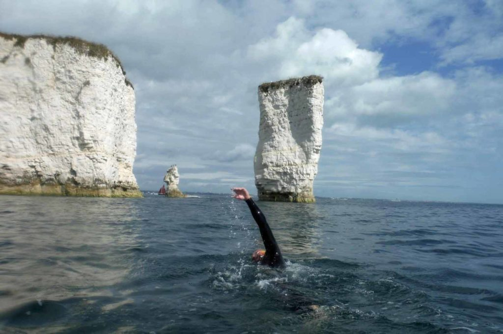 Oly at Old Harry Rocks