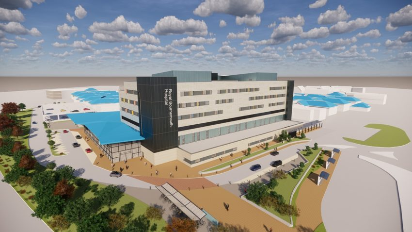 Royal Bournemouth Hospital architects impression