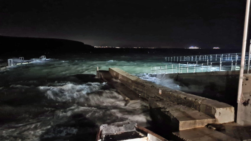 Swanage Lifeboat house at night