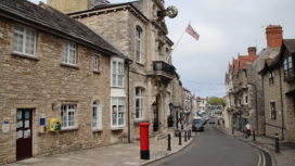 Exterior of Swanage Town Hall on High Street