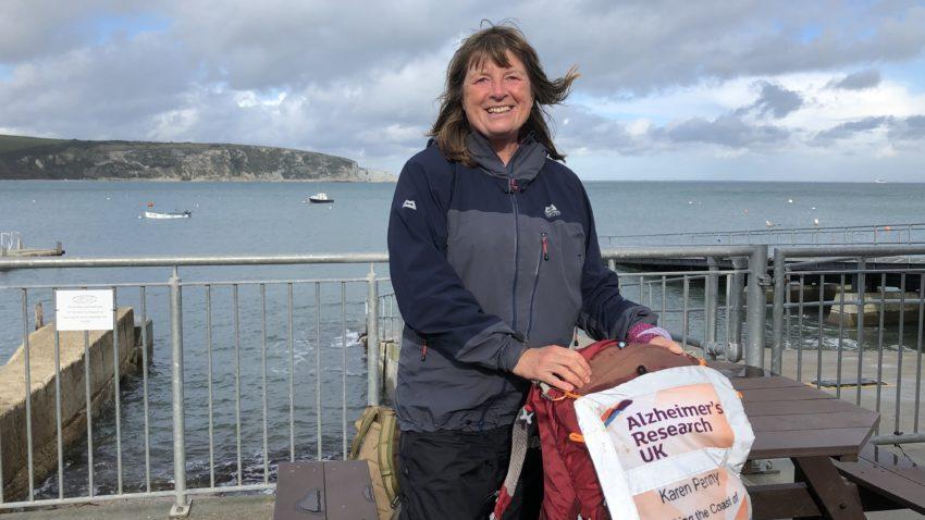 Karen Penny raising money for Alzheimers in Swanage