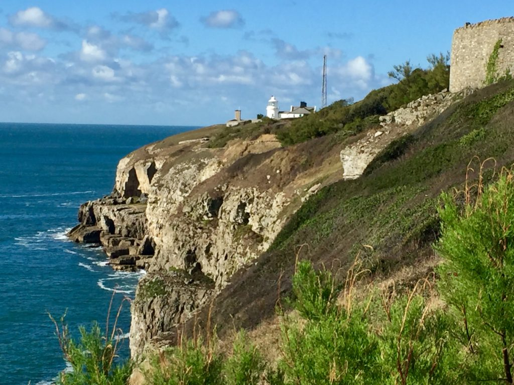 Anvil lighthouse viewed from Durlston Country Park