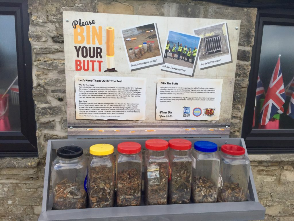 Bin your Butt information display
