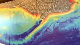 Doris map showing the contours of the seabed in Dorset