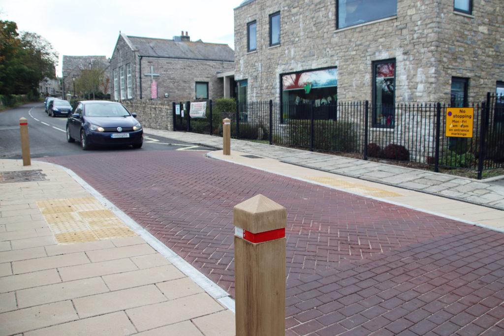 New crossing at Langton Matravers high street