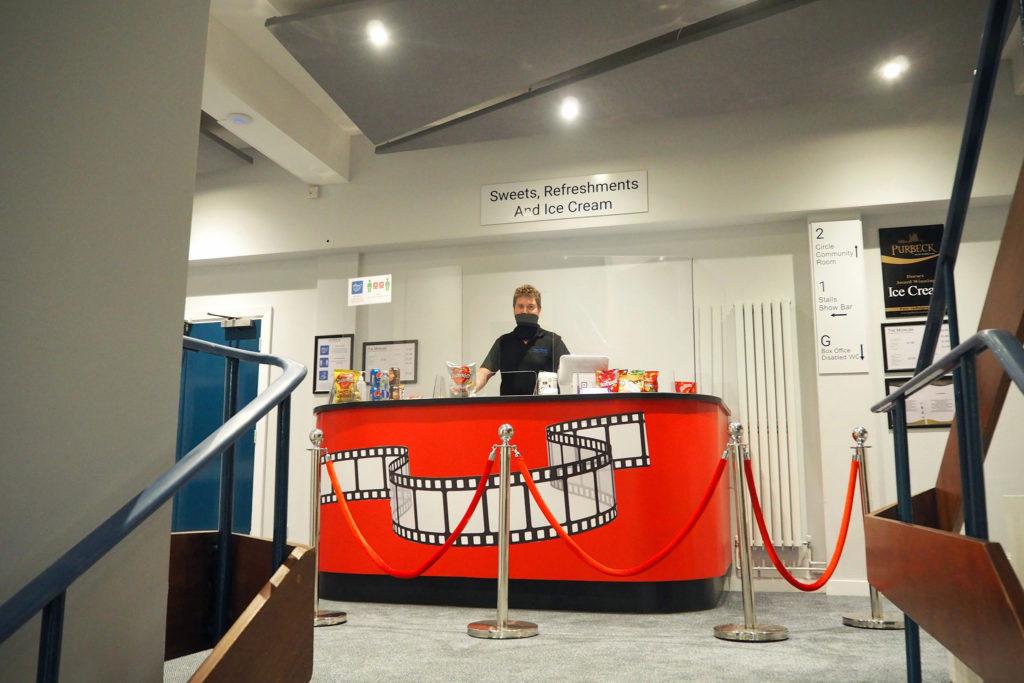 Refreshment counter inside the Mowlem