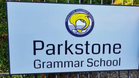 Parkstone Grammar School sign