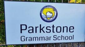 Parkstone Grammar School sign