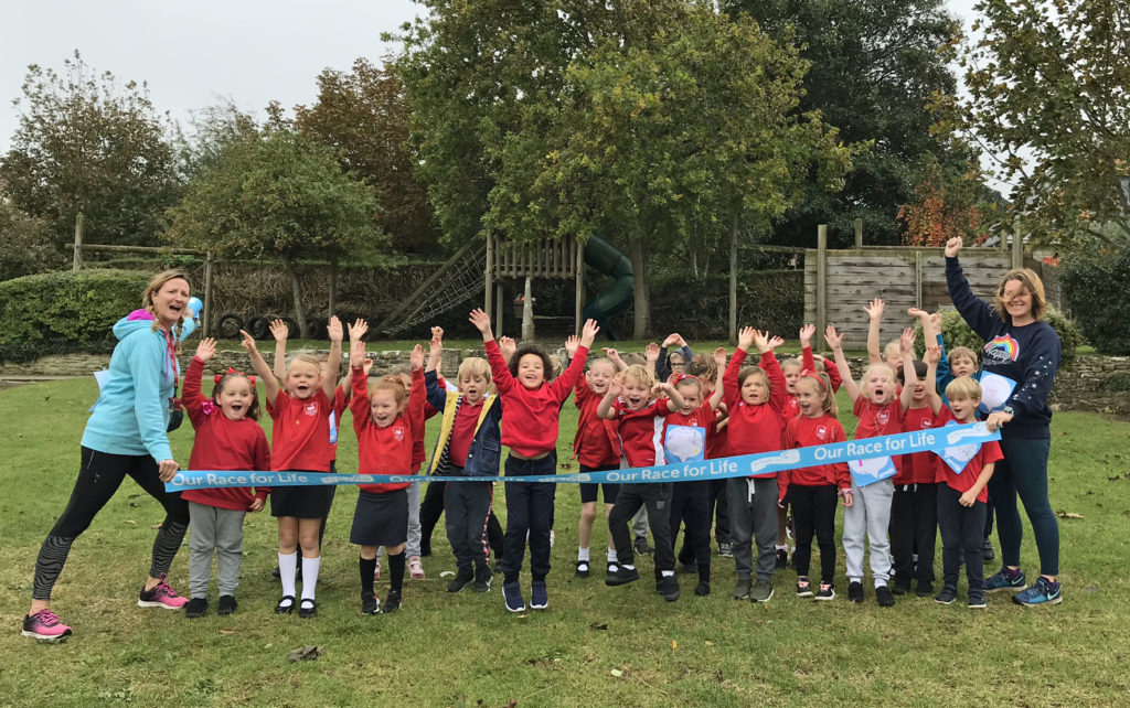 Pupils at Swanage primary