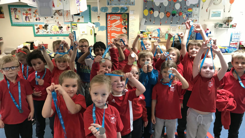 Pupils from Swanage Primary
