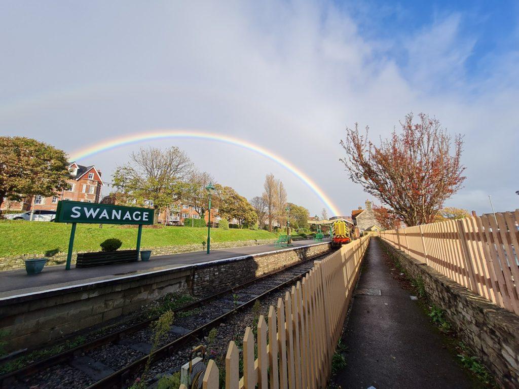 Rainbow at Swanage Railway