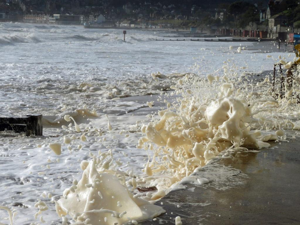 Foam on waves