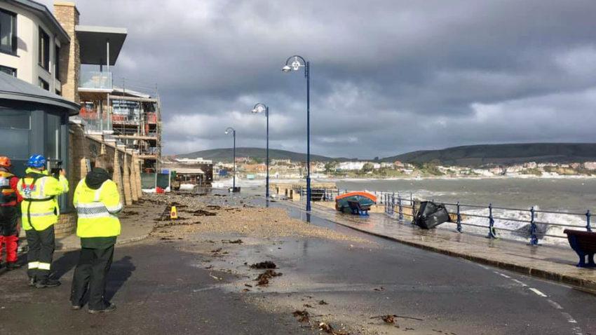 Storm Alex leaves debris on road