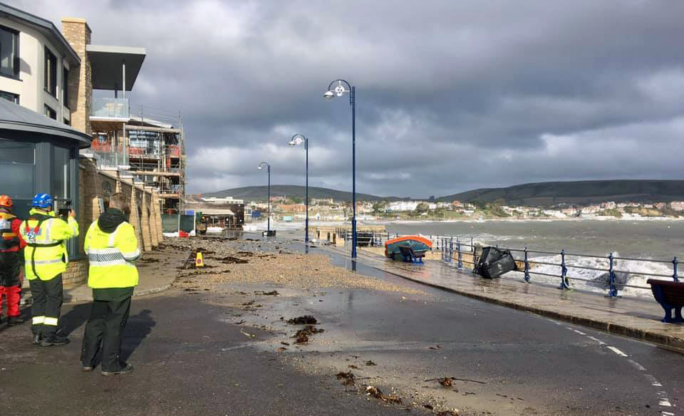 Storm Alex leaves debris on road