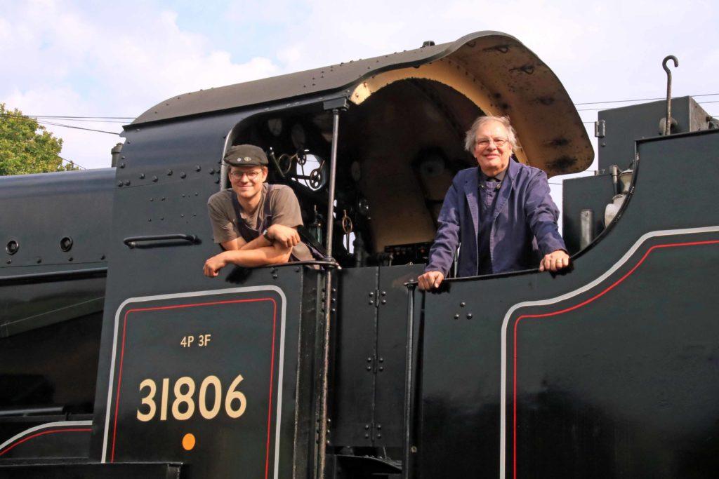 Steam engine on Swanage Railway summer 2020