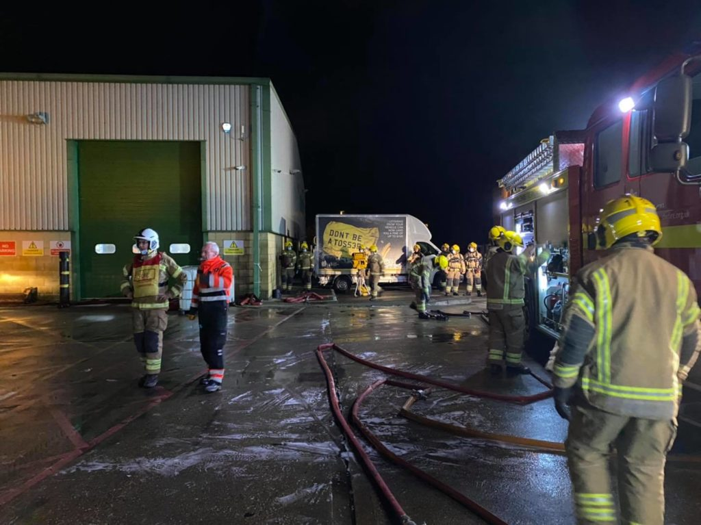 Burnt out bin lorrie