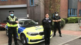 PC Dave Cotterill, Superintendent Heather Dixey and PC John Upsher with the dedicated car