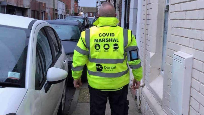 Covid Marshall in Dorset